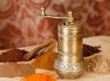 Gouden Turkse kruidmolen Royalty-vrije Stock Afbeeldingen