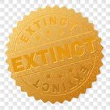 Gouden UITGESTORVEN Medaillezegel stock illustratie