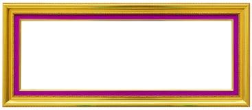 Gouden uitstekend die kader op wit wordt geïsoleerd Royalty-vrije Stock Foto's
