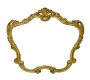 Gouden uitstekend die kader op witte achtergrond wordt geïsoleerd Royalty-vrije Stock Afbeelding