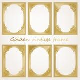 Gouden uitstekend frame Royalty-vrije Stock Afbeelding