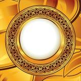 Gouden uitstekend frame Stock Illustratie