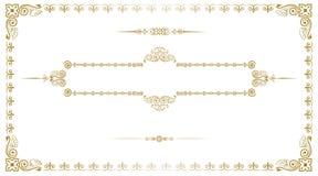 Gouden Uitstekend Frame Royalty-vrije Stock Foto's