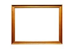 Gouden uitstekend frame, dat op wit wordt geïsoleerdr Royalty-vrije Stock Afbeelding