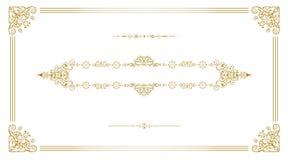Gouden uitstekend kader Royalty-vrije Stock Afbeeldingen