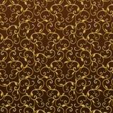 Gouden Uitstekend naadloos patroon Stock Afbeeldingen