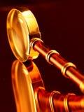 Gouden uitstekend vergrootglas Stock Afbeelding