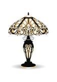 Gouden Uitstekende Barokke Klassieke Verfraaide lamp vector illustratie