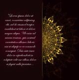 Gouden uitstekende groetkaart op een zwarte achtergrond stock illustratie