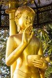 Gouden Upagupta, Thais monniksstandbeeld Stock Foto