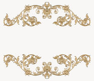 Gouden van bloemenhoek Royalty-vrije Stock Foto's