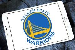 Gouden van het de Strijdersbasketbal van de Staat het teamembleem Stock Afbeelding
