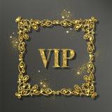 Gouden vectorkader Royalty-vrije Stock Foto's