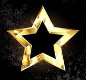Gouden veelhoekige ster stock illustratie