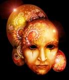 Gouden Venetiaans masker stock illustratie
