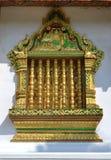 Gouden Vensterstempels en Heilige Plaatsen van Luang Prabang Laos royalty-vrije stock afbeelding