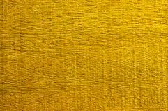 Gouden Verf op Houten voor textuurachtergrond Stock Afbeelding