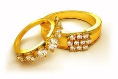 Gouden Verlovingsring Stock Illustratie