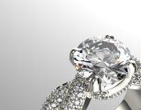 Gouden Verlovingsring met Diamant of moissanite Juwelen backg royalty-vrije stock fotografie