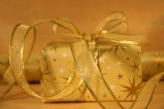 Gouden verpakkingsmateriaal Stock Afbeelding