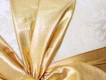 Gouden verpakt lint Royalty-vrije Stock Afbeeldingen