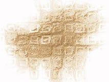 Gouden vierkante gestalte gegeven achtergrond Royalty-vrije Stock Afbeelding