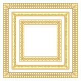 3 gouden vierkante kaders vector illustratie