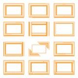 Gouden vierkante kaders Royalty-vrije Stock Foto