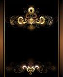 Gouden vignetten stock illustratie