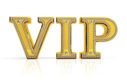 Gouden VIP tekst met diamanten Royalty-vrije Stock Afbeeldingen