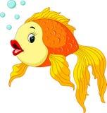 Gouden vissen met bellen royalty-vrije illustratie