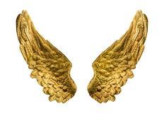 Gouden vleugels Royalty-vrije Stock Afbeelding