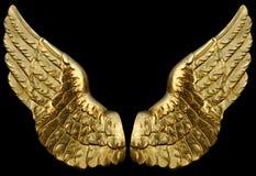 Gouden Vleugels Royalty-vrije Stock Foto's