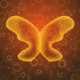 Gouden vlinder Stock Afbeeldingen