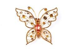 Gouden vlinder Stock Foto