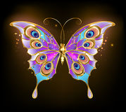 Gouden vlinderpauw stock illustratie