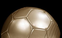 Gouden voetbal Stock Afbeeldingen