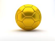 Gouden voetbalbal Stock Afbeelding