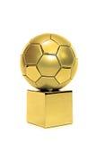 Gouden voetbalkop stock afbeeldingen