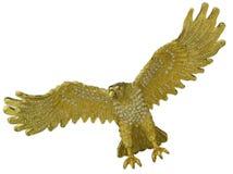 Gouden vogel tijdens de vlucht Stock Afbeeldingen