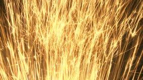 Gouden vonkenspruit naar omhoog stock footage