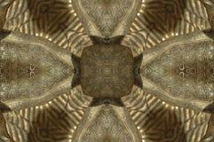 Gouden Vormenpatroon, die uit een fractal ontwerp komen Royalty-vrije Stock Fotografie