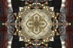 Gouden Vormenpatroon, die uit een fractal ontwerp komen Royalty-vrije Stock Foto
