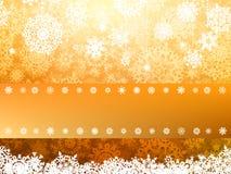 Gouden Vrolijke de groetkaart van Kerstmis. EPS 8 Stock Foto's