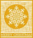 Gouden Vrolijke Kerstmis Stock Fotografie