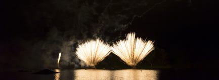 Gouden Vuurwerk Royalty-vrije Stock Foto