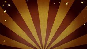 Gouden vuurwerk en sterren die achtergrond met copyspace voor reclame of bericht bewegen stock videobeelden