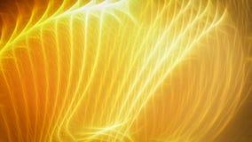 Gouden warme energiestrepen Stock Fotografie