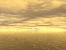 Gouden water Vector Illustratie