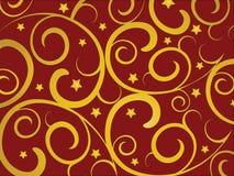 Gouden wervelingen Royalty-vrije Stock Afbeeldingen